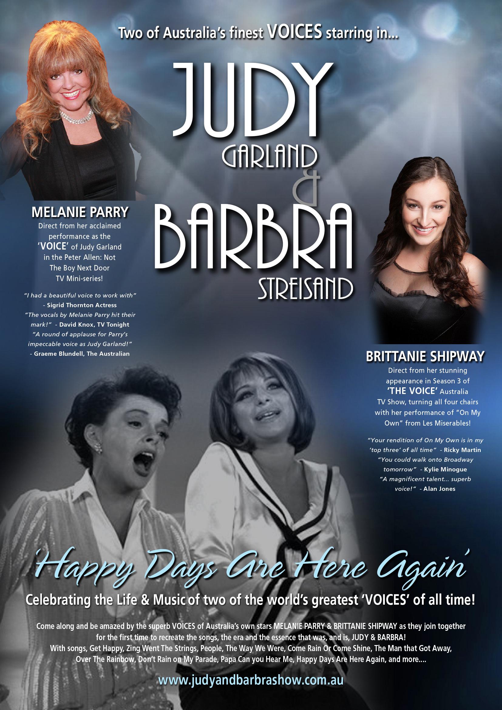Judy & Barbra Show Promo Poster
